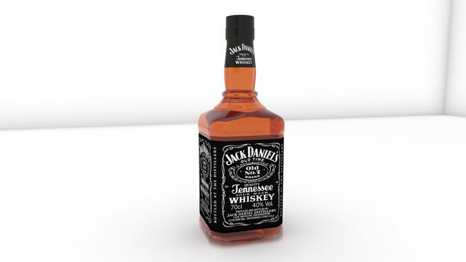 jack daniels bottle  3d model skp 1
