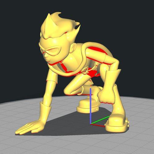 teen titan robin crouched 3d model stl 1