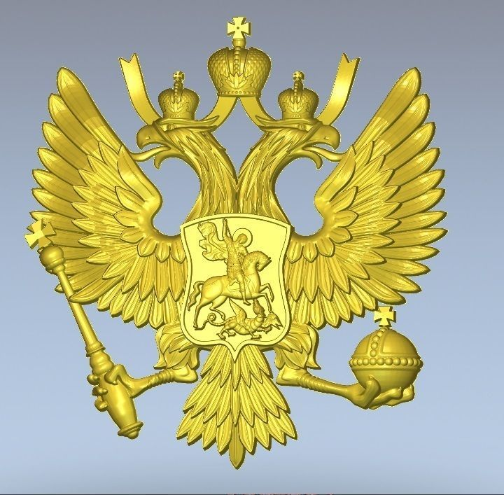 Russian Two Headed Eagle Coat Of Arms 3d Model Stl 3dm 2