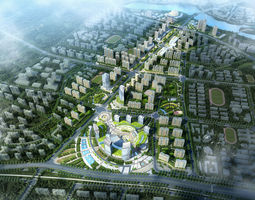 3D model City Planning flat