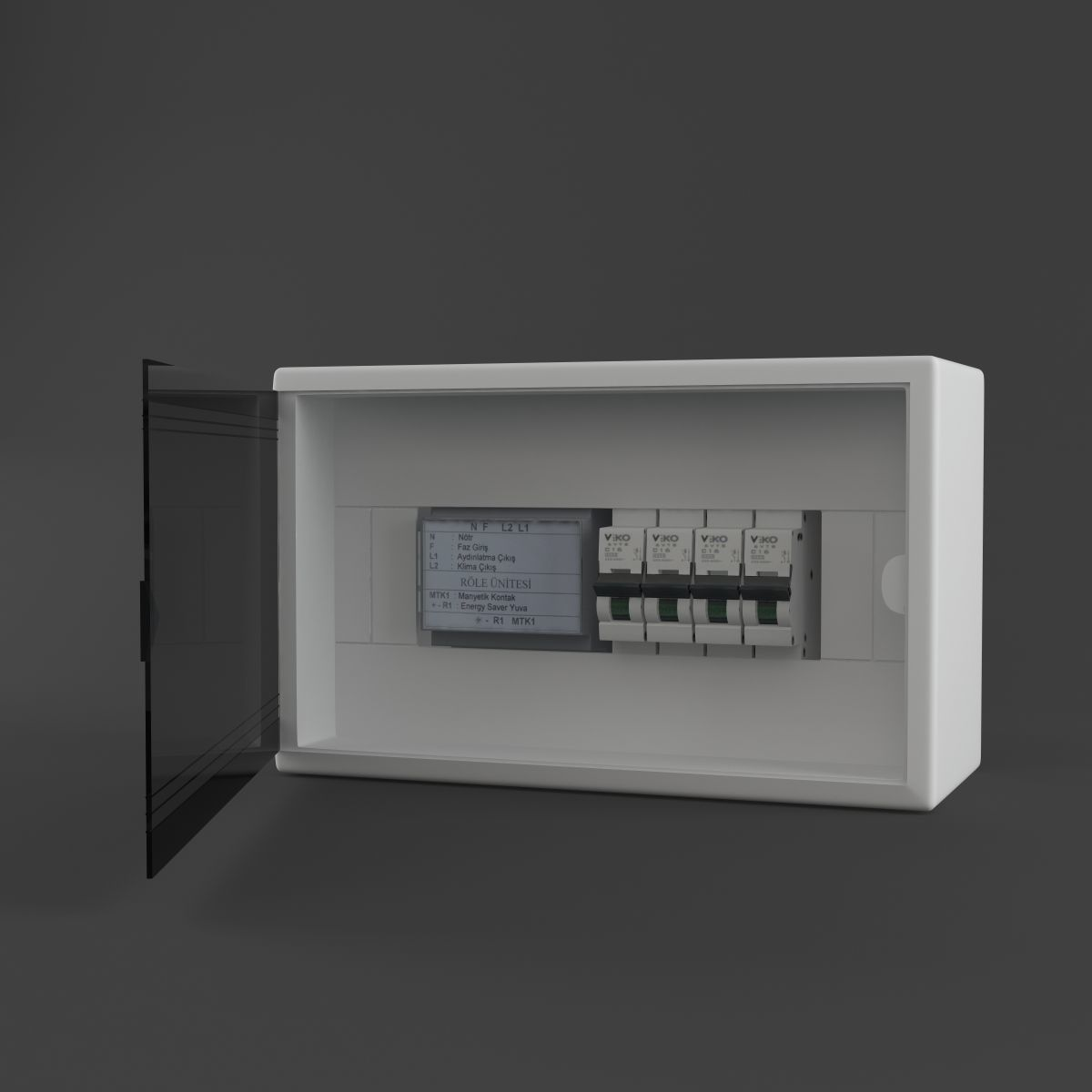 fuse box 3d model low poly animated max obj 3ds fbx 3d asset fuse box cgtrader
