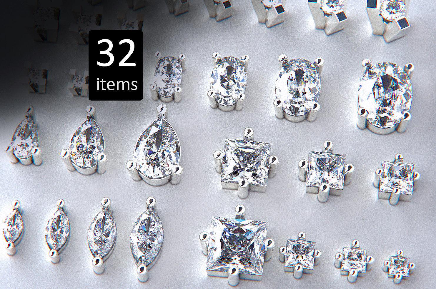 Jewelry Heads Pack