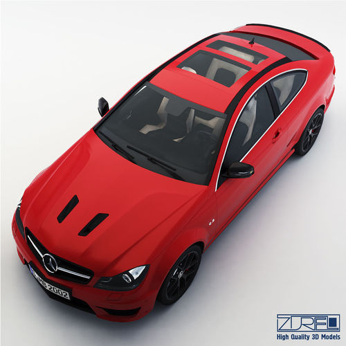 mercedes-benz c63 amg edition 507 3d model low-poly max obj mtl fbx 1