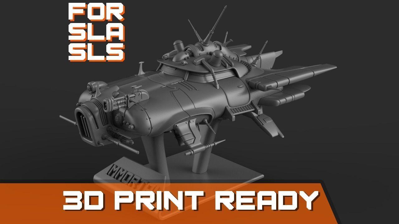 Immortal flying car for SLA and SLS printers