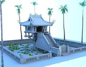 3D model One Pillar Pagoda HaNoi Vietnamese