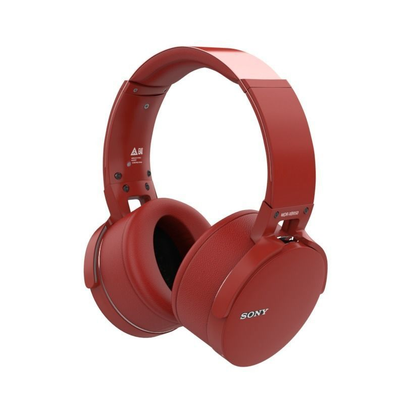 SONY MDR XB950BT BLUETOOTH HEADPHONES RED | 3D model
