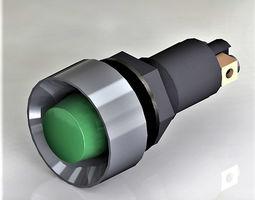 3D model signal light green