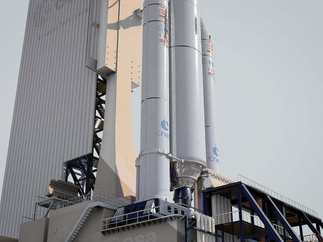 ariane-5 launch pad 3d model obj mtl fbx stl blend 1