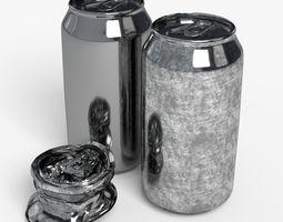 3D asset 330ml beverage Open and Off Model Set