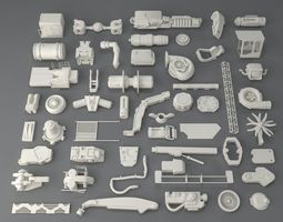 3D Kit bash-52 pieces - collection-2
