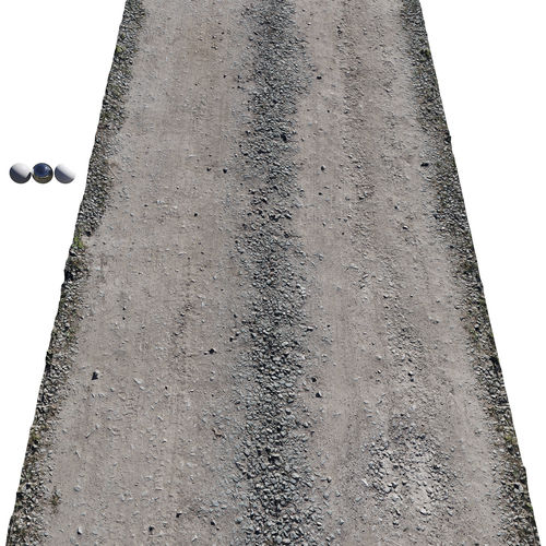Ultra realistic Sandy Road Scan