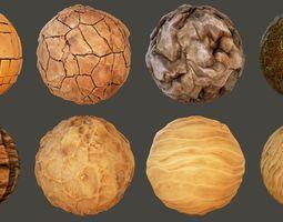 Stylized Desert Materials 3D