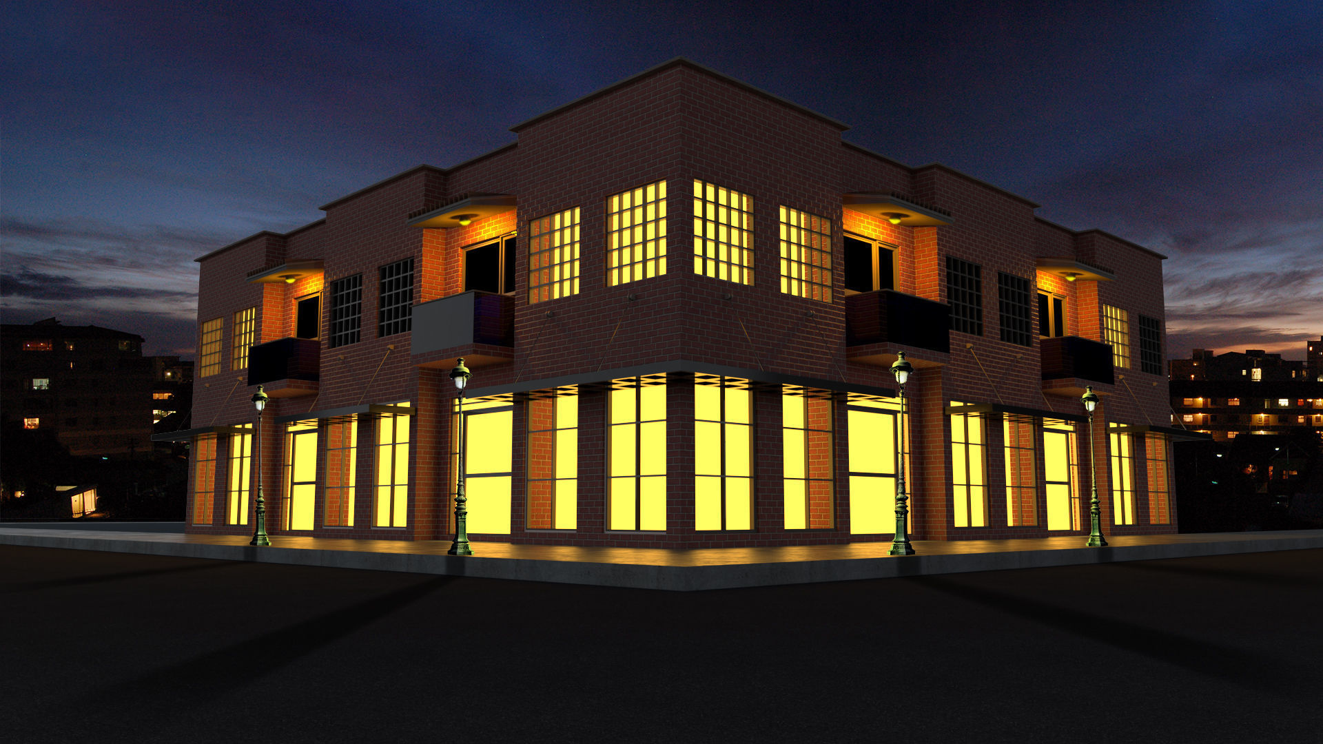 High Quality Corner Building with Shop