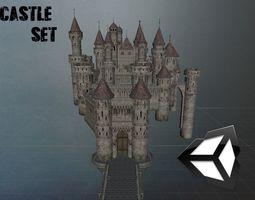 Castle set 3D asset