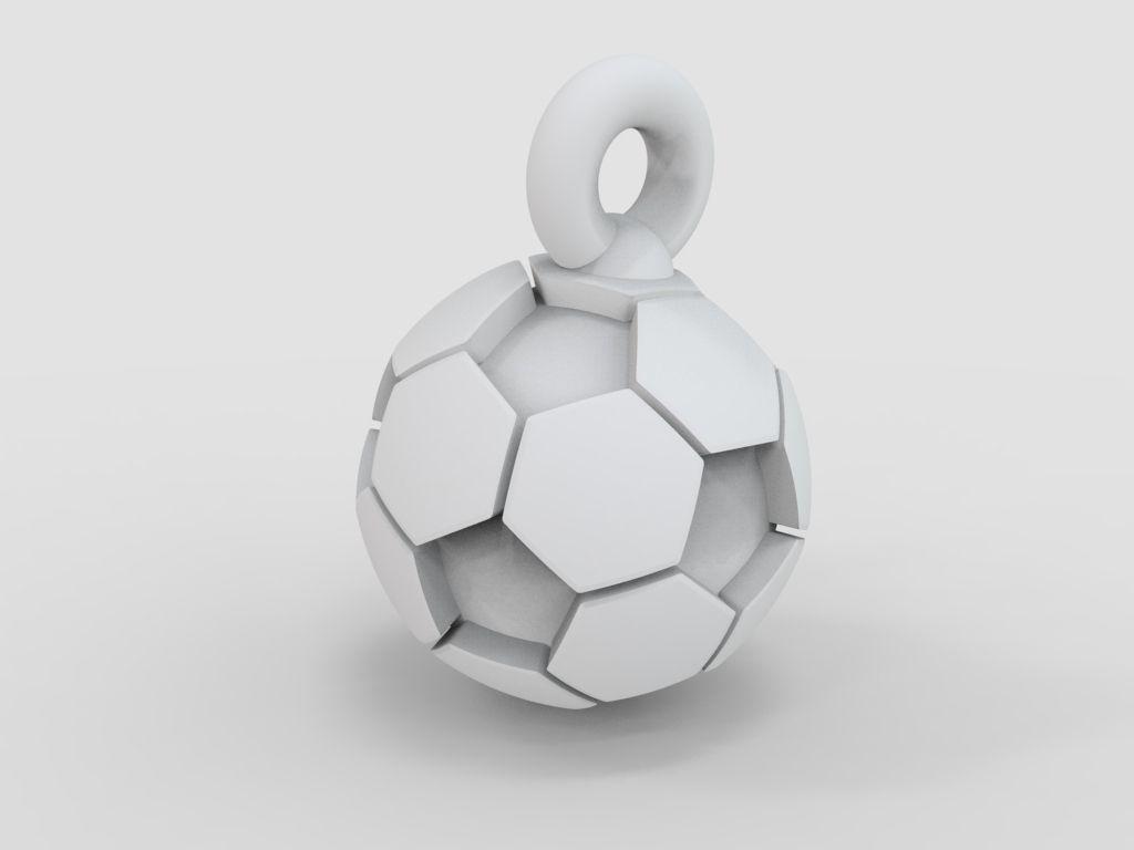 3d model soccer ball pendant with enamel stl 3d model 3d printable stl