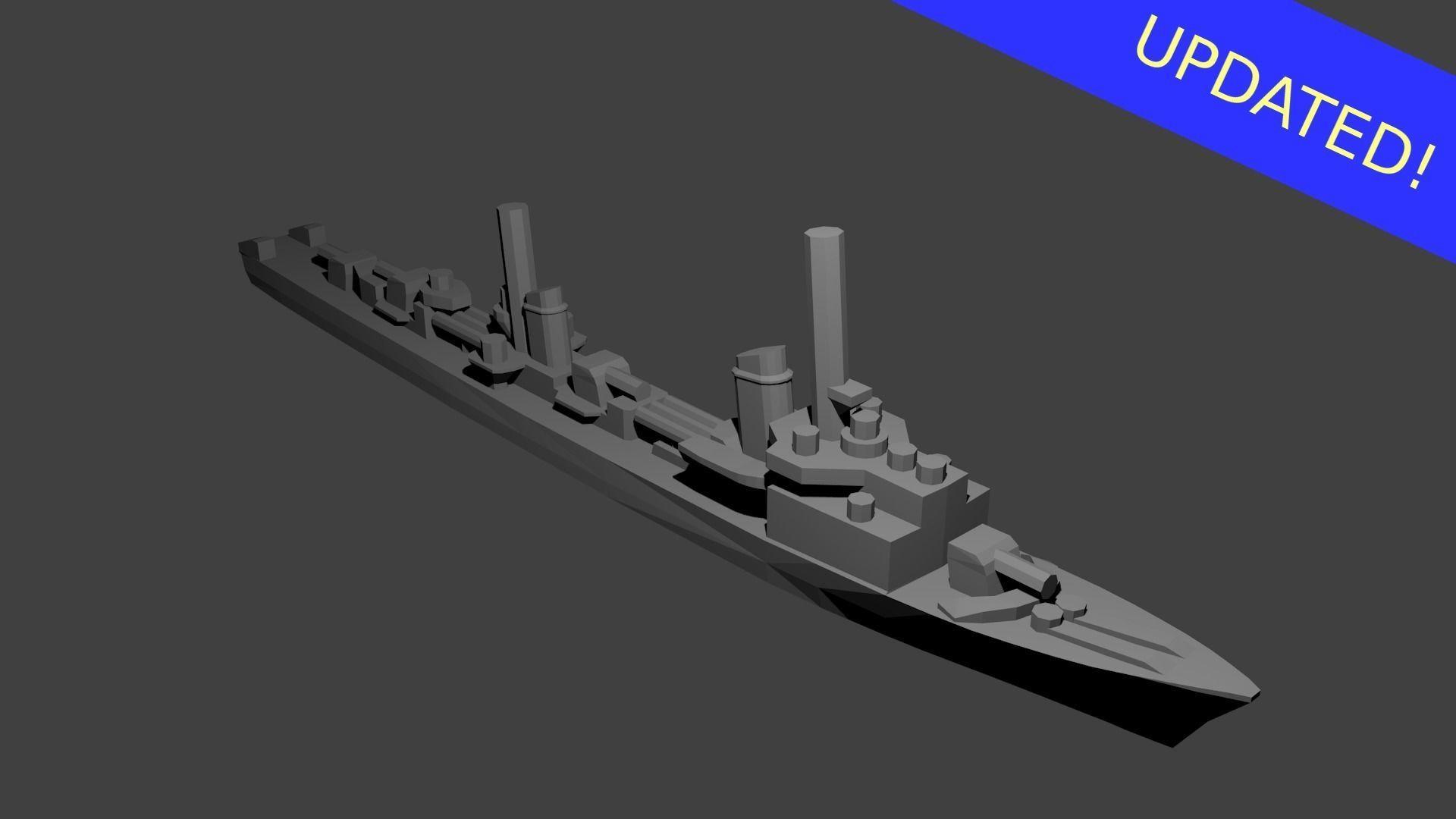 German Elbing Class Destroyer Warship