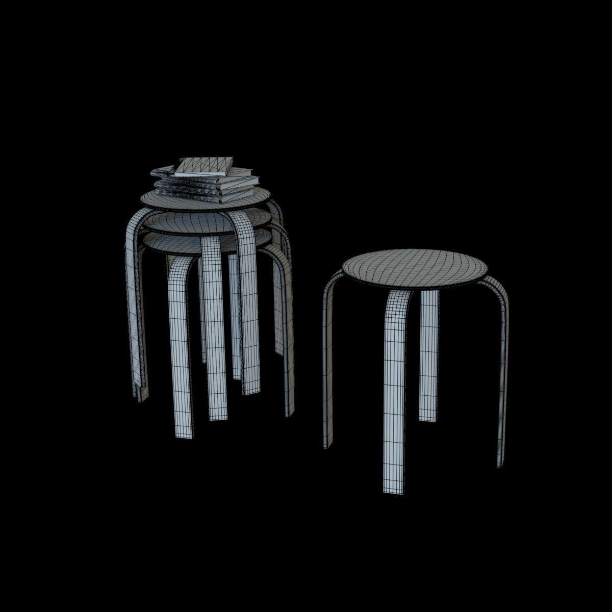 3d Ikea Frosta Stool Cgtrader Black Model Obj Mtl Fbx Lwo Lw Lws Dae Lxo Lxl Abc 2