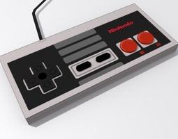 animated 3d asset nintendo entertainment system controller game-ready