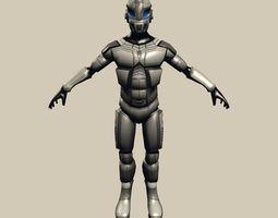 Robot Cyborg Suit Low-poly 3D asset