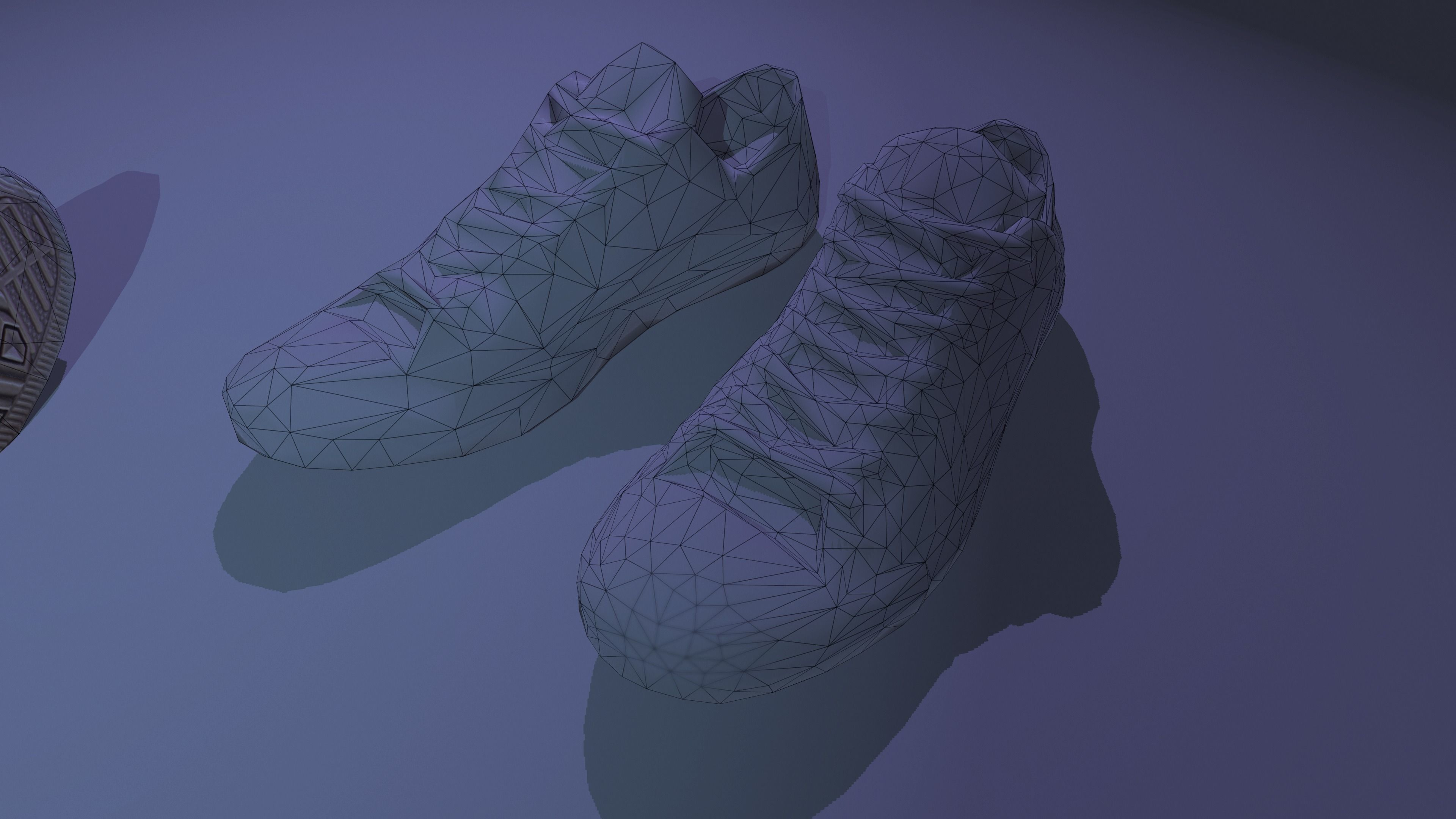6ae21ae36b ... white all star shoes hd photoscanned pbr 4k with lods 3d model low-poly  obj
