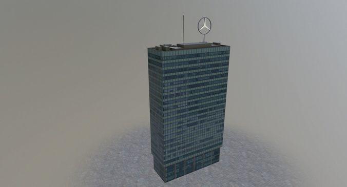 berlin europa center 3d model low-poly max obj mtl 3ds fbx 1