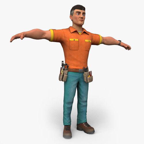 Cartoony Worker Character