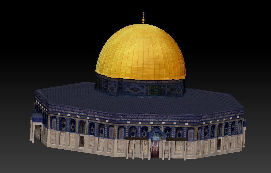 for 3D print Dome of the Rock Jerusalem Aqsa wrl stl model