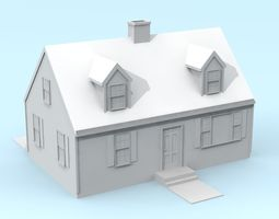 Cape Cod Style House 3D printable model
