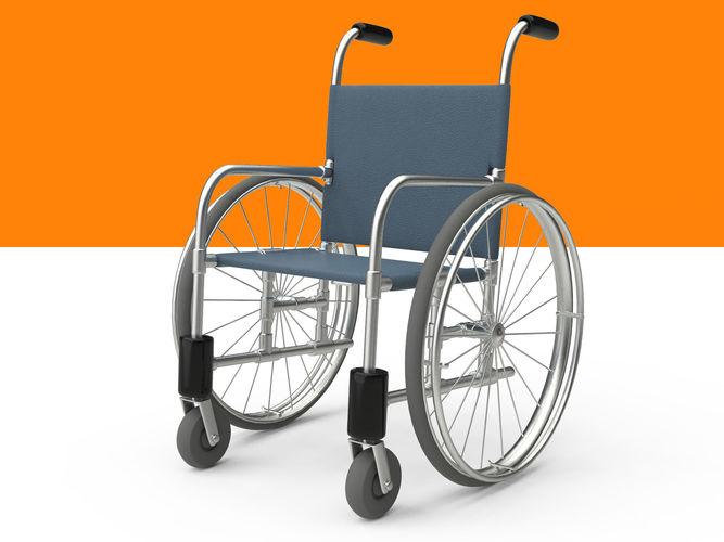 wheelchair rig 3d model low-poly rigged obj mtl fbx ma mb 1