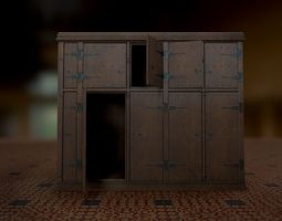 Authentic Replica Medieval Cabinet 3D asset