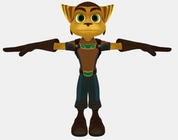 character Ratchet 3D model