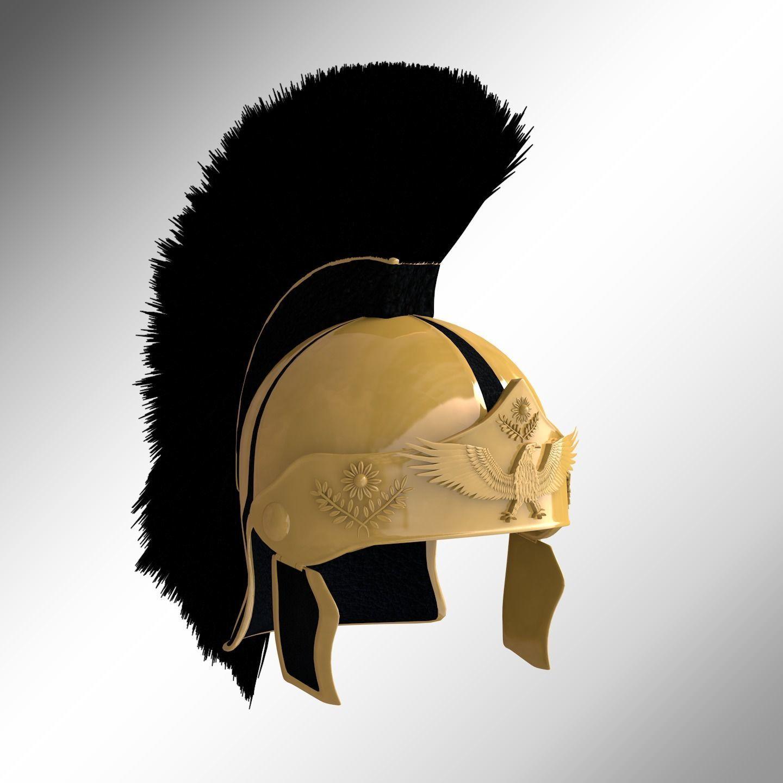 Gold Roman Helmet with plume
