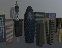 3D asset London High Rise Pack