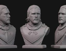 Jon Snow bust 3 3D print model