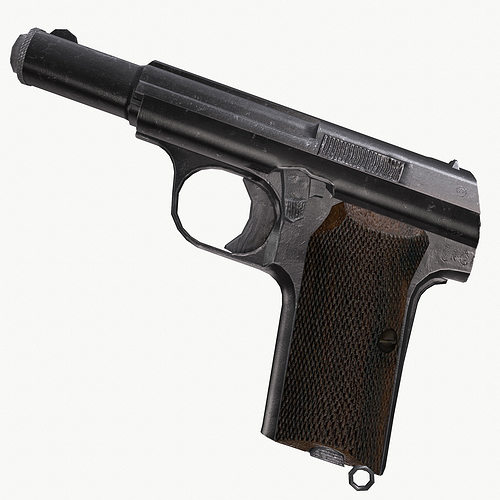 astra 300 gun 3d model low-poly obj fbx ma mb 1