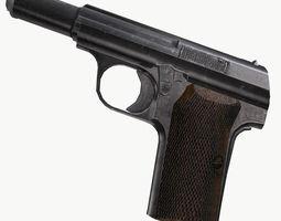 astra 300 gun 3d model obj fbx ma mb