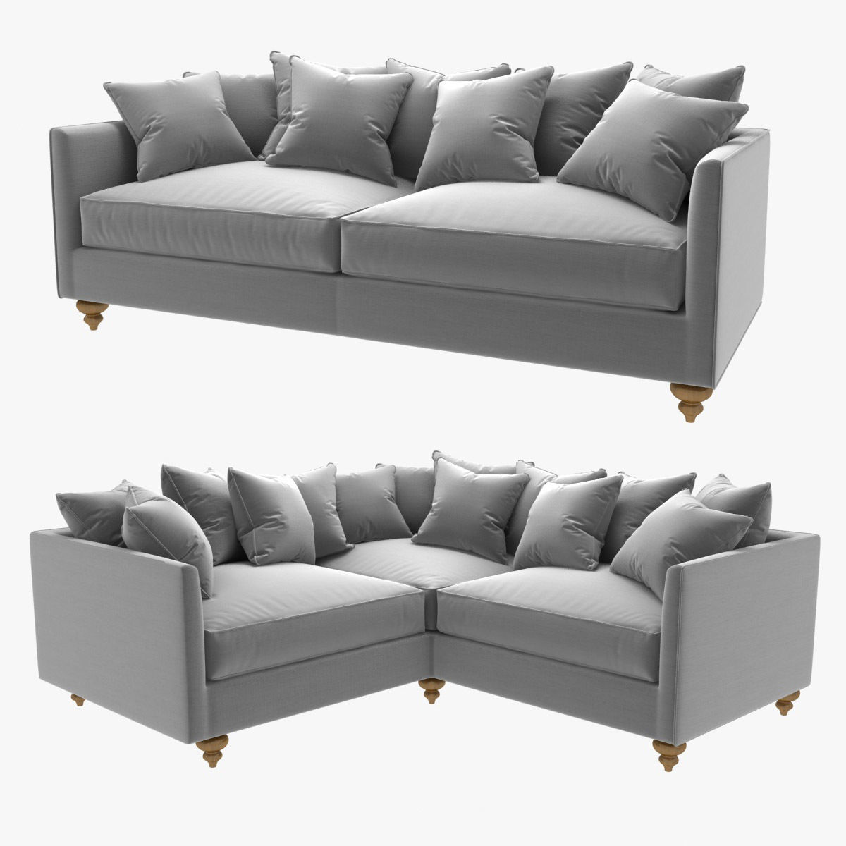 Custom Made Straight And Corner Sofas