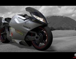 suzuki concept bike 3D model