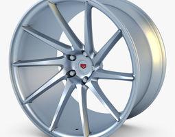 3d model vossen vps-310t 19 wheel silver