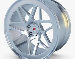 3d model vossen lc-109t 19 wheel silver