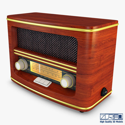 retro radio auna belle 3d model max obj mtl fbx 1