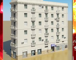 Photorealistic Low Poly Building 3D model low-poly