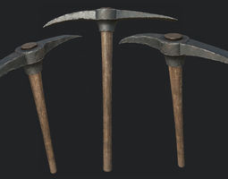 Old Pickaxe PBR 3D model