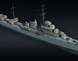 Destroyer project 7 Gremyashiy 3D model