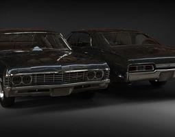Chevrolet Impala 1967 car 3D model