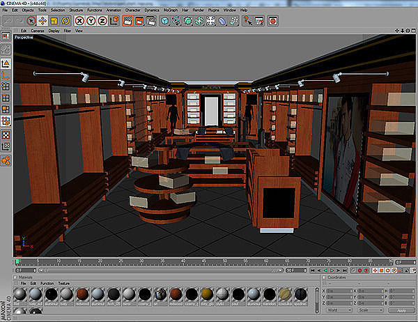 Clothing store interior for men and women render ready 3d for Interior modeling in 3ds max