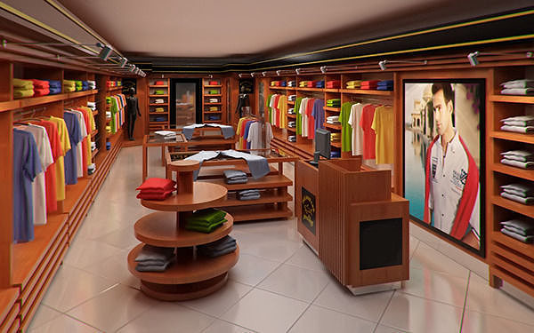 clothing store interior for men and women render ready 3d model max obj 3ds fbx c4d ma mb 1