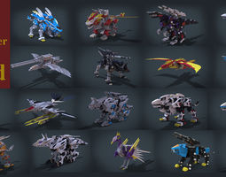 3D print model 18 Character Zoid Collection