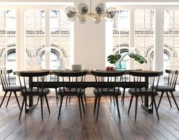 3D model Dining furniture set 0508