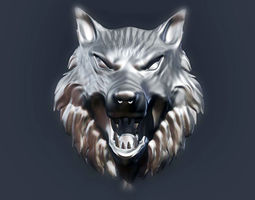 3D print model Wolf Head 2